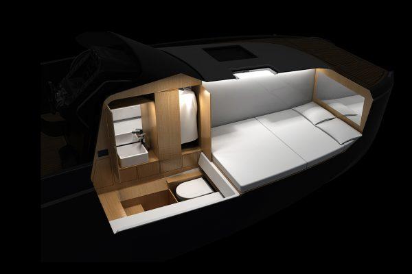 Aurea Yachts - 30 Cabin - Power Catamaran - interni Double